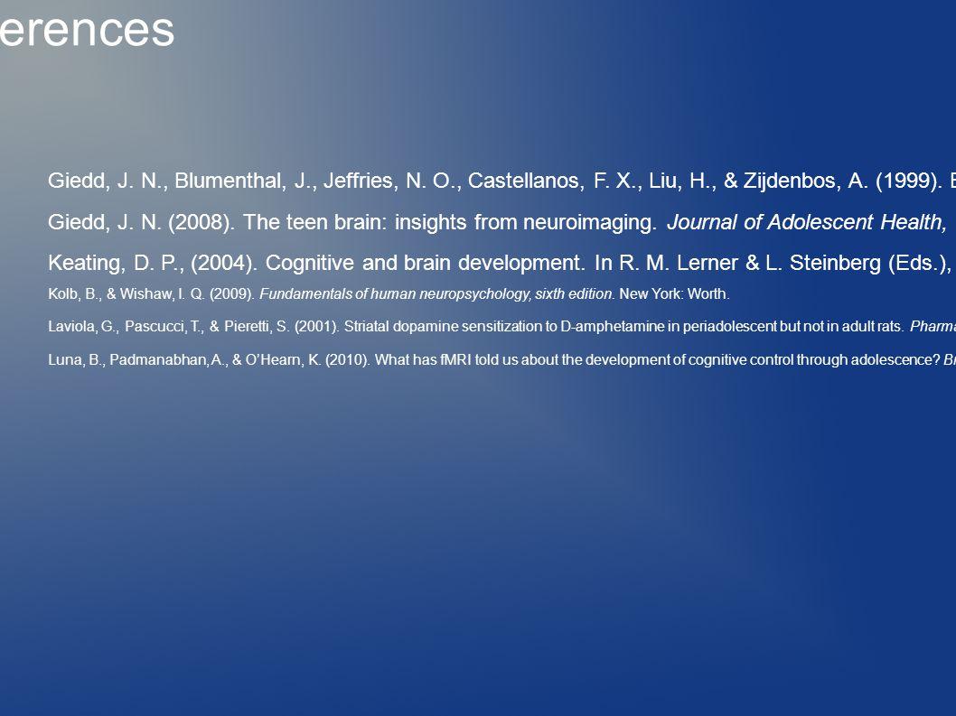 Giedd, J. N., Blumenthal, J., Jeffries, N. O., Castellanos, F.