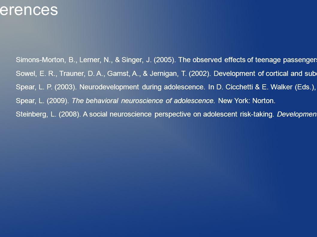 Simons-Morton, B., Lerner, N., & Singer, J. (2005).