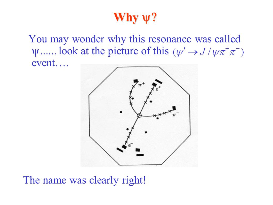 Why  You may wonder why this resonance was called  look at the picture of this event…. The name was clearly right!