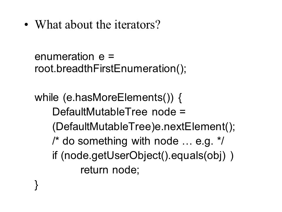 What about the iterators.