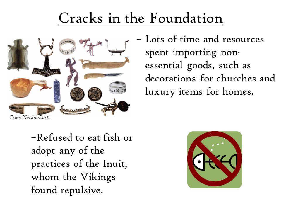 Cracks in the Foundation –Lots of time and resources spent importing non- essential goods, such as decorations for churches and luxury items for homes