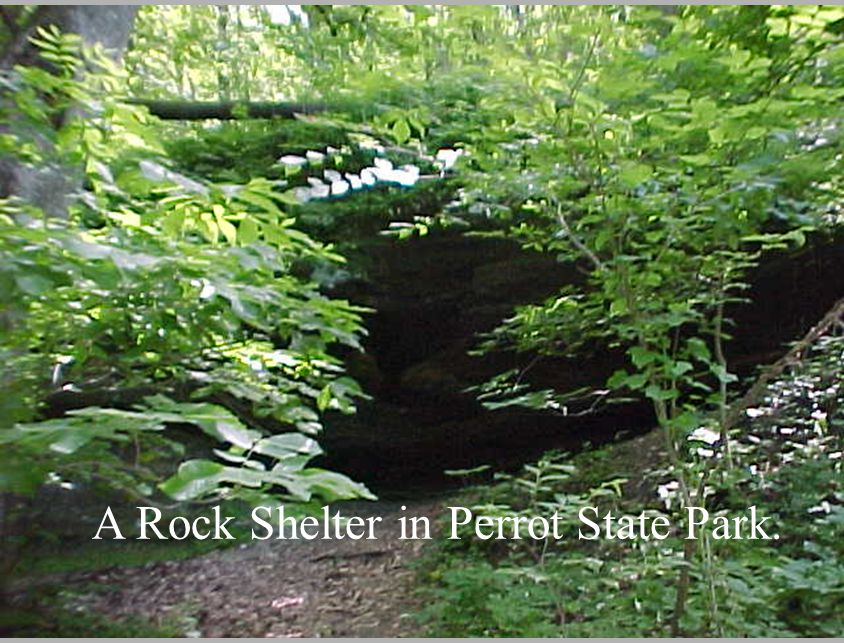 A Rock Shelter in Perrot State Park.