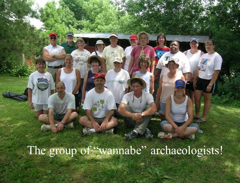 The group of wannabe archaeologists!