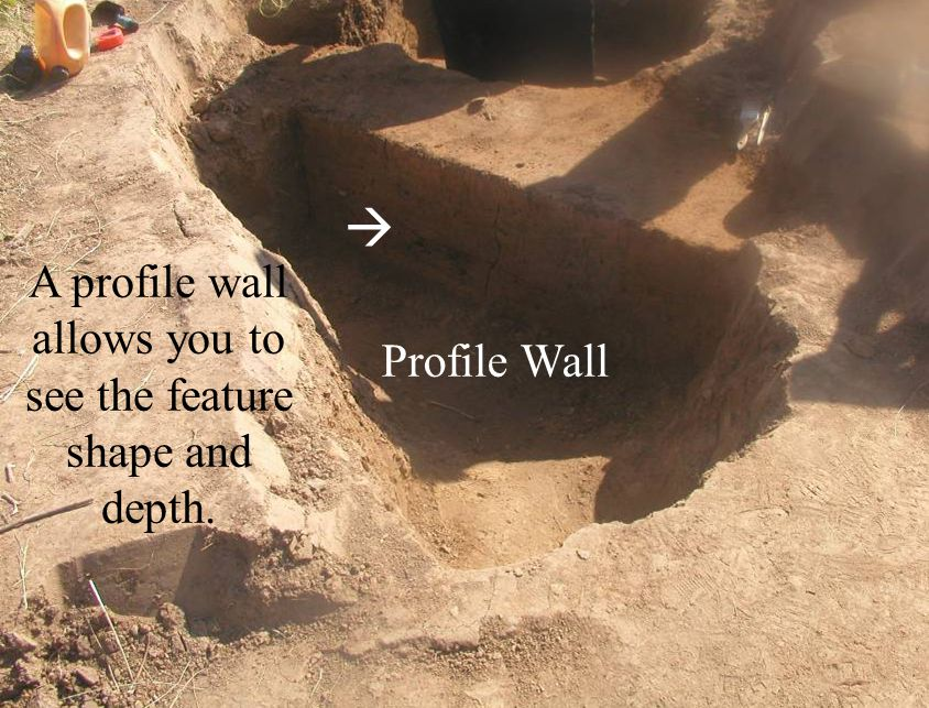 Profile Wall A profile wall allows you to see the feature shape and depth. 