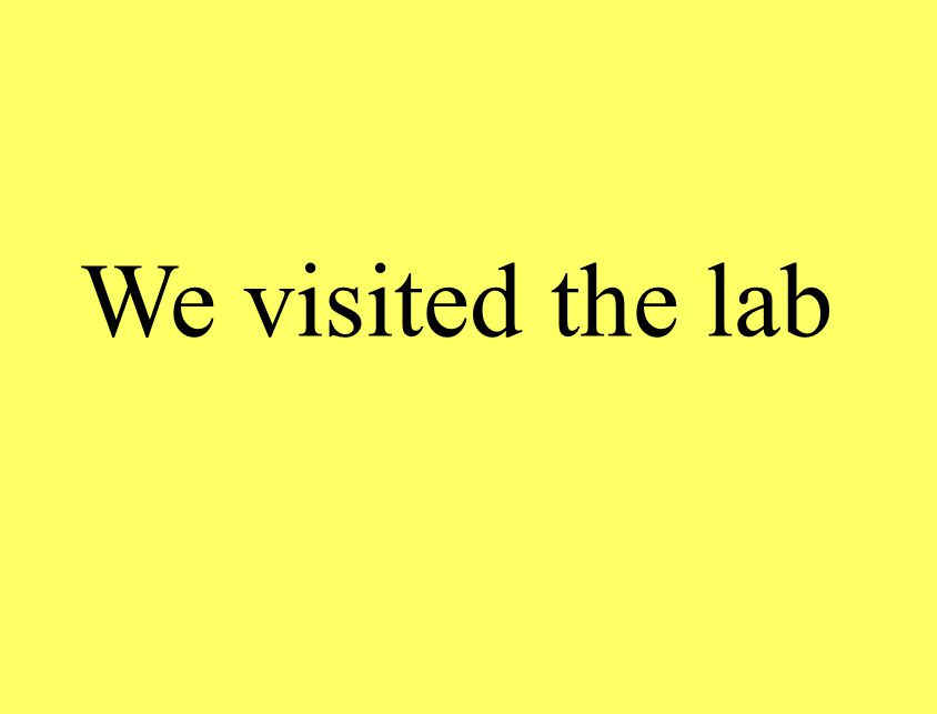 We visited the lab