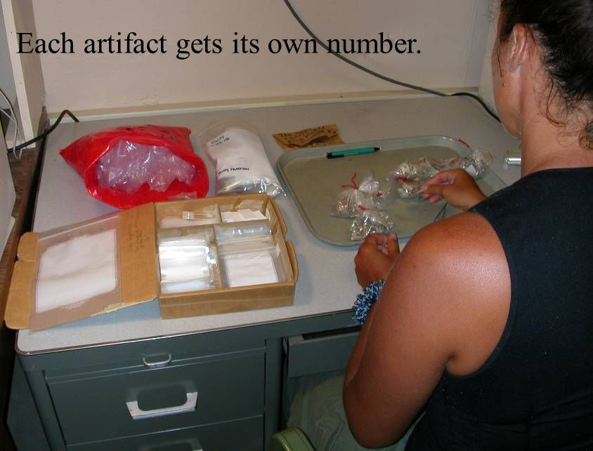 Each artifact gets its own number.