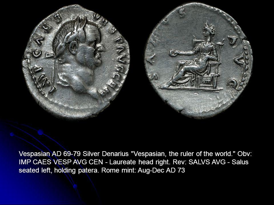 Vespasian AD 69-79 Silver Denarius