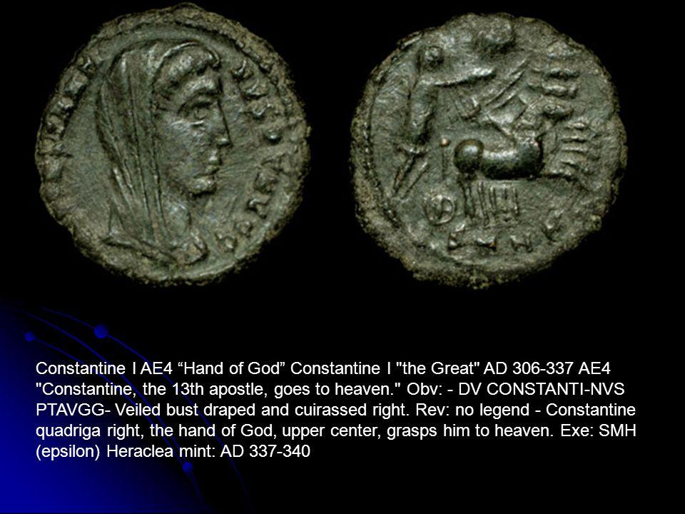 "Constantine I AE4 ""Hand of God"" Constantine I"