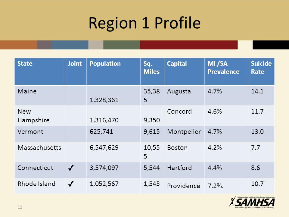 Region 1 Profile 12 StateJointPopulationSq.