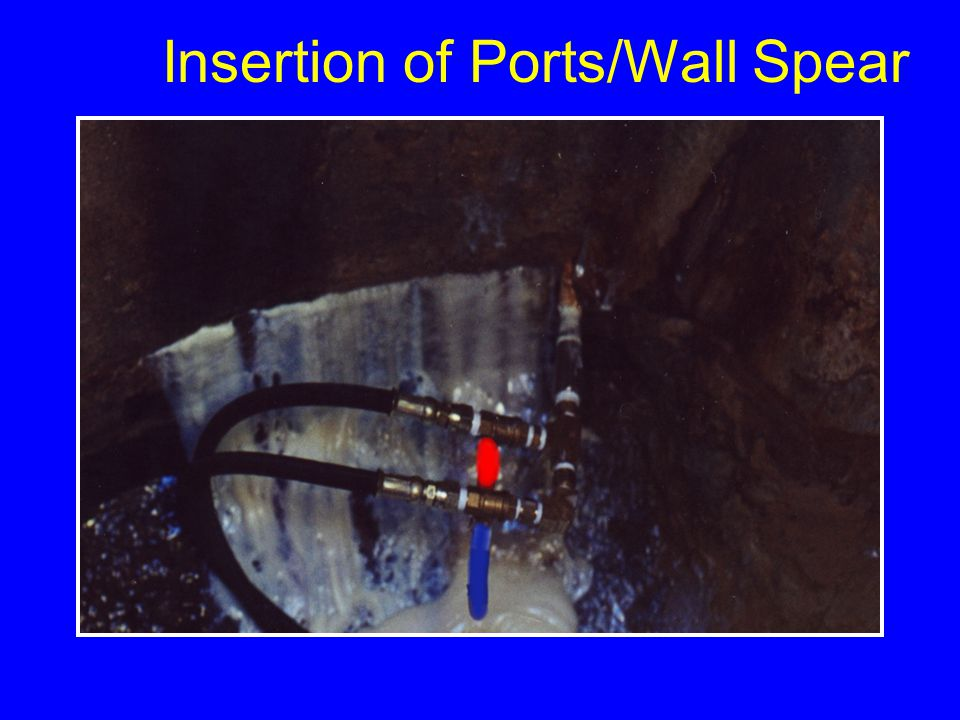 Insertion of Ports/Wall Spear