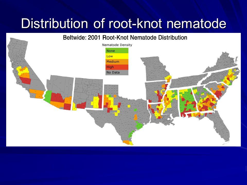 Distribution of root-knot nematode