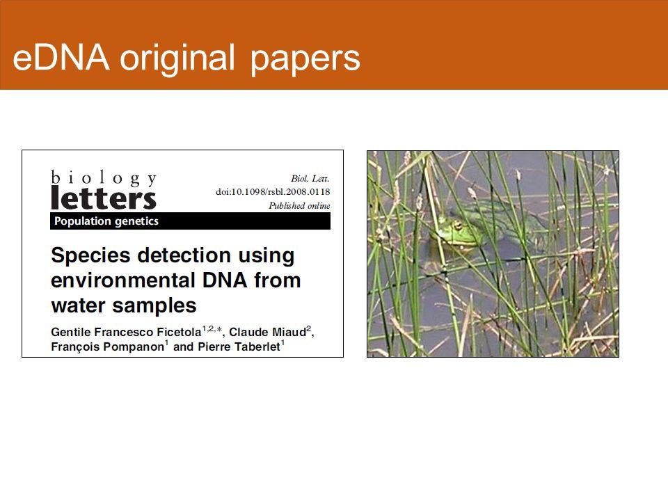 eDNA original papers