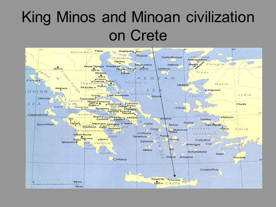 King Minos and Minoan civilization on Crete
