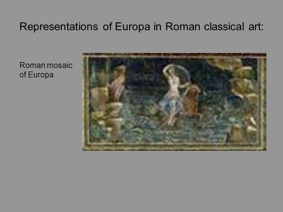 Representations of Europa in Roman classical art: Roman mosaic of Europa