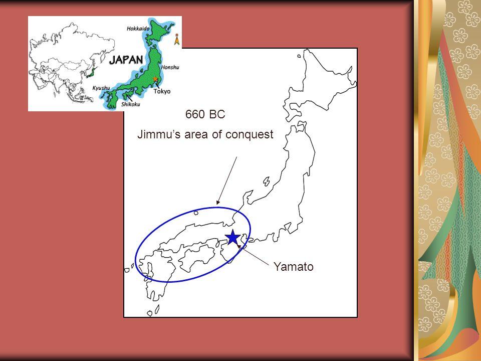 Yamato Jimmu's area of conquest 660 BC