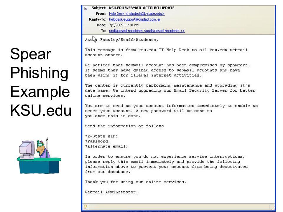 17 Spear Phishing Example KSU.edu