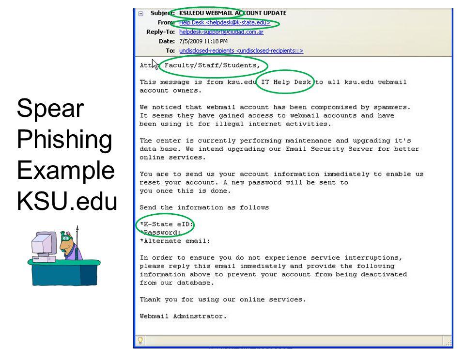 18 Spear Phishing Example KSU.edu