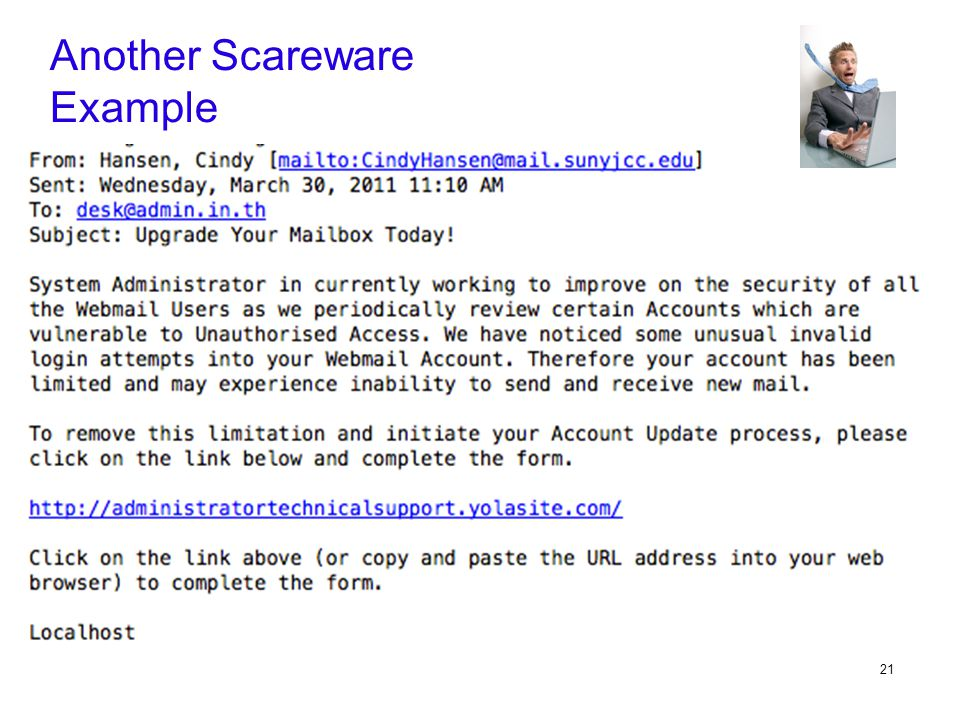 21 Another Scareware Example