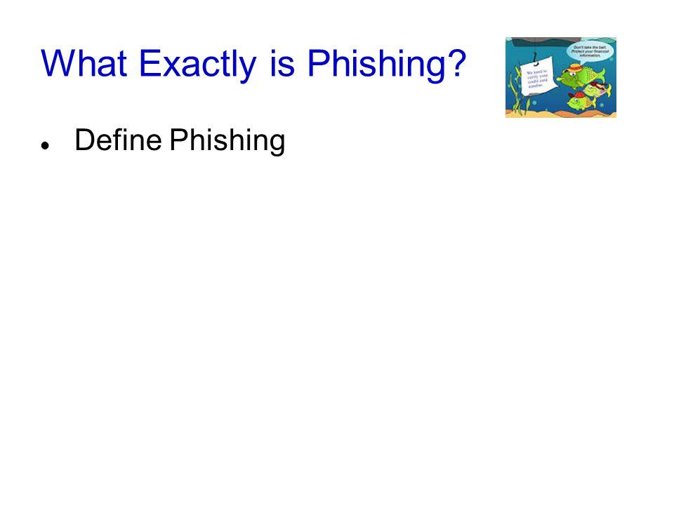 What Exactly is Phishing? Define Phishing