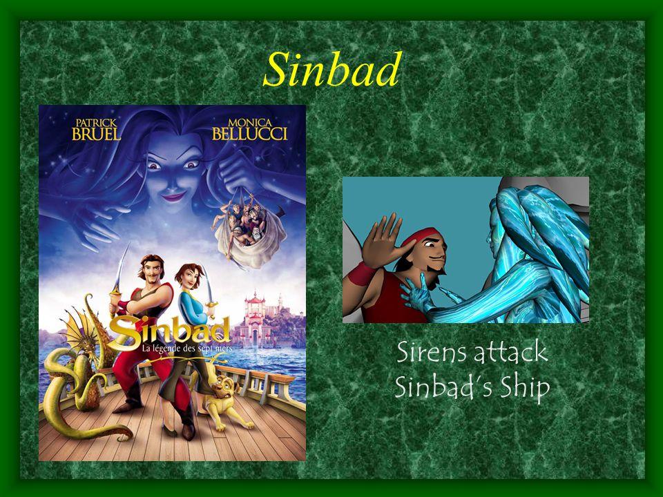 Sinbad Sirens attack Sinbad's Ship