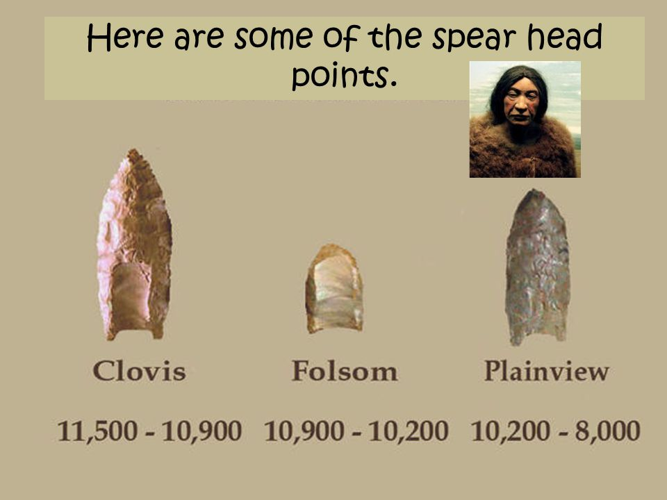Here are some of the spear head points.