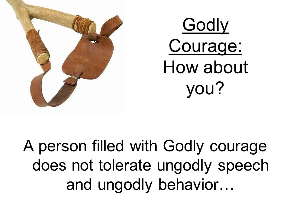 Godly Courage: How about you.