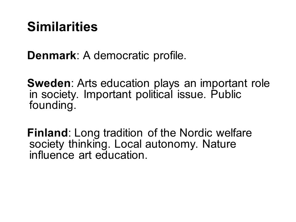 Similarities Denmark: A democratic profile.