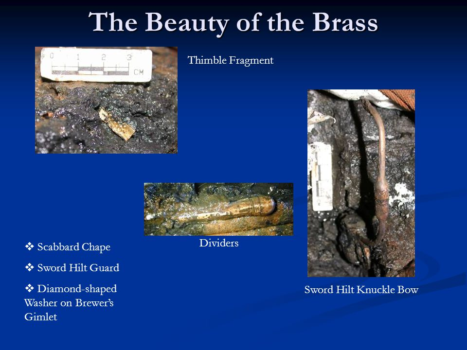 The Beauty of the Brass  Scabbard Chape  Sword Hilt Guard  Diamond-shaped Washer on Brewer's Gimlet Thimble Fragment Dividers Sword Hilt Knuckle Bo