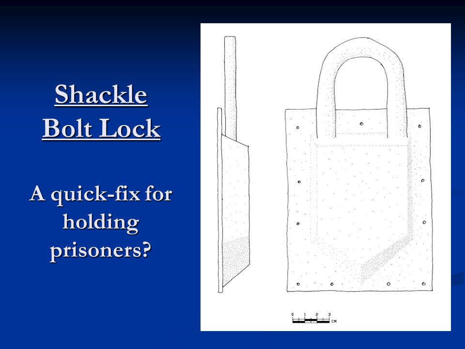 Shackle Bolt Lock A quick-fix for holding prisoners?