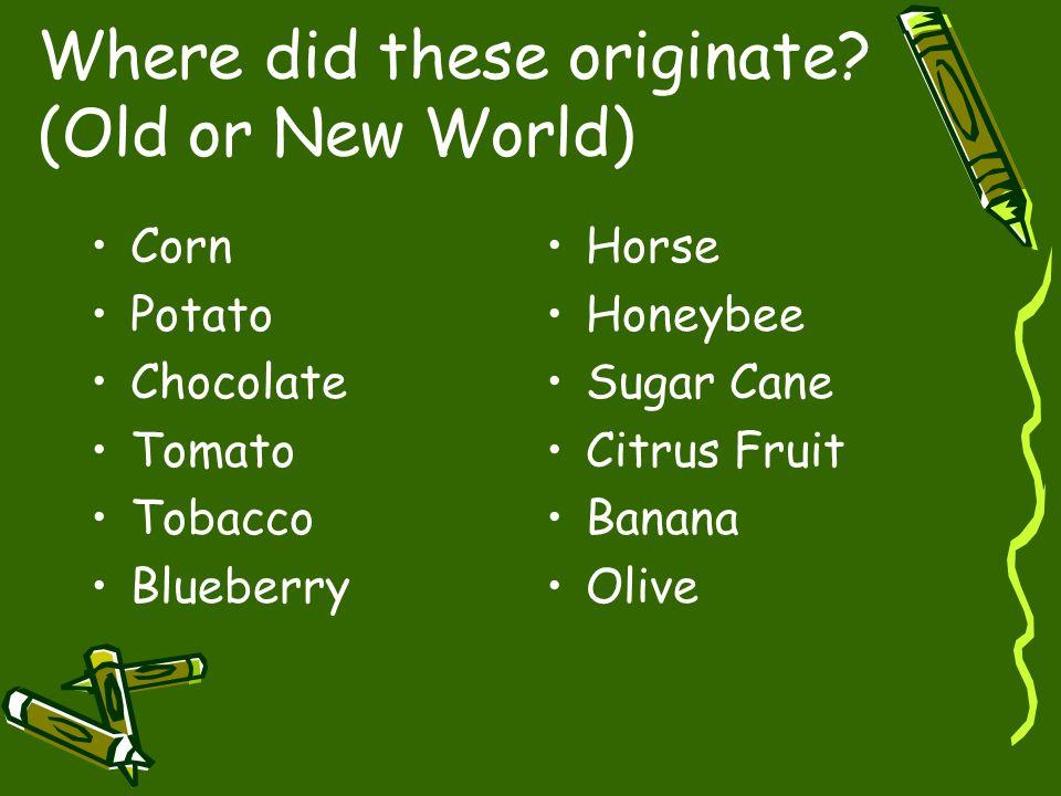 Where did these originate.
