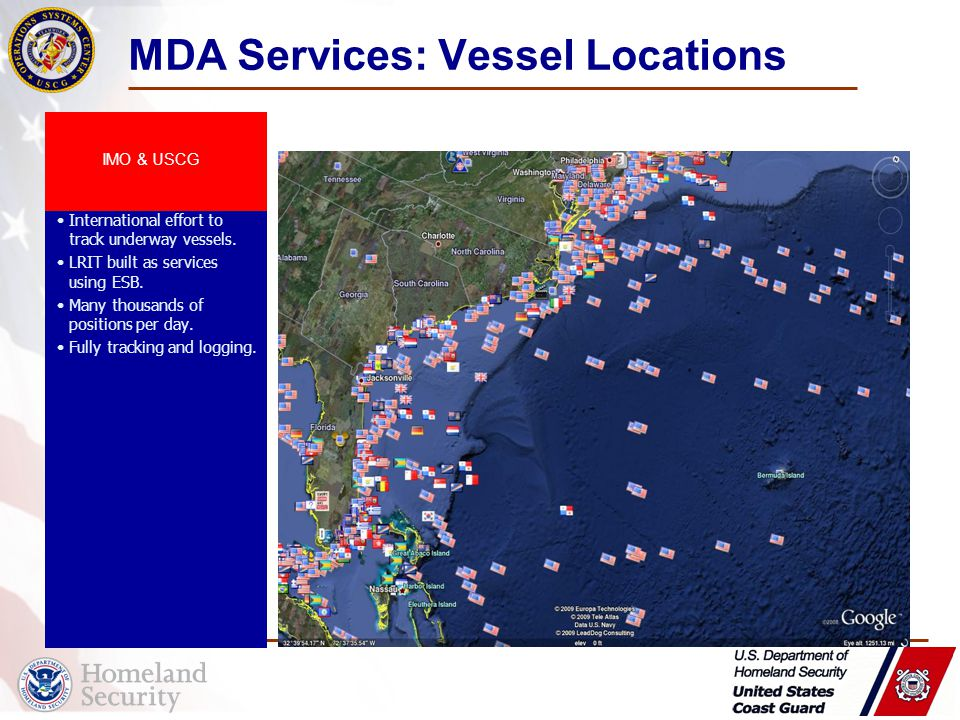 Long Range Information Tracking (LRIT) International effort to track underway vessels.