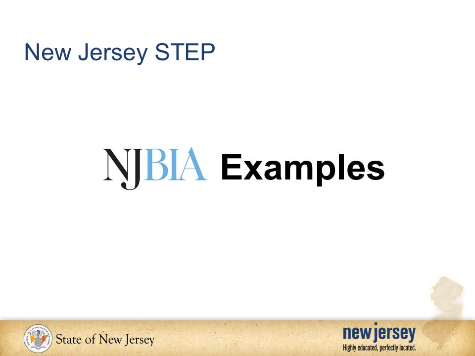 Examples New Jersey STEP