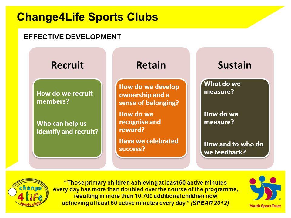 Change4Life Sports Clubs CELEBRATING SUCCESS