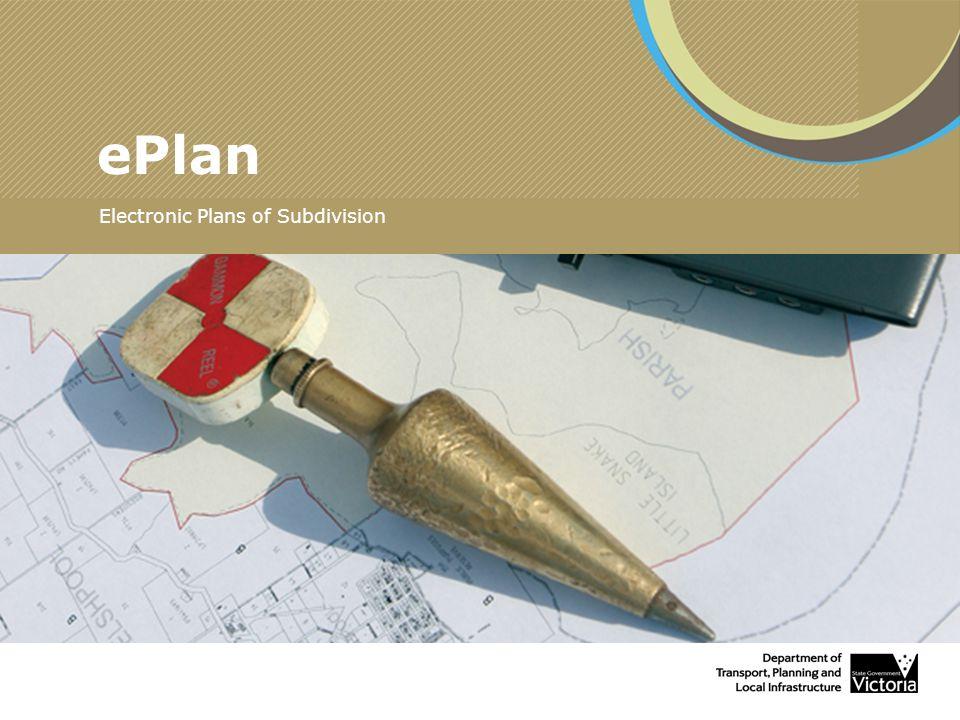 ePlan Electronic Plans of Subdivision