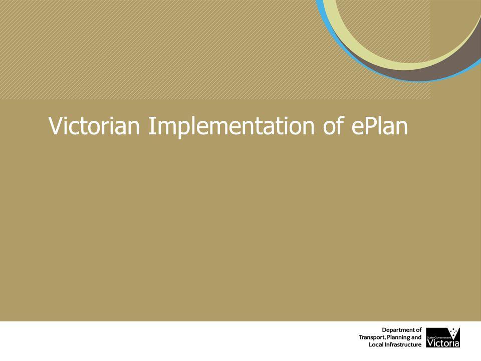 Victorian Implementation of ePlan