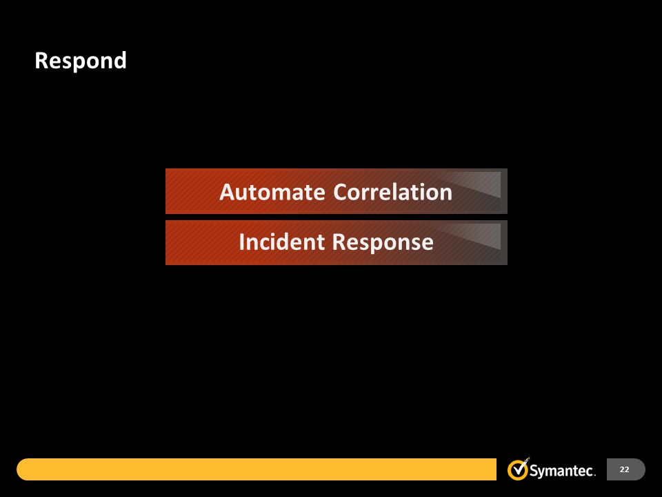 Respond 22 Automate Correlation Incident Response