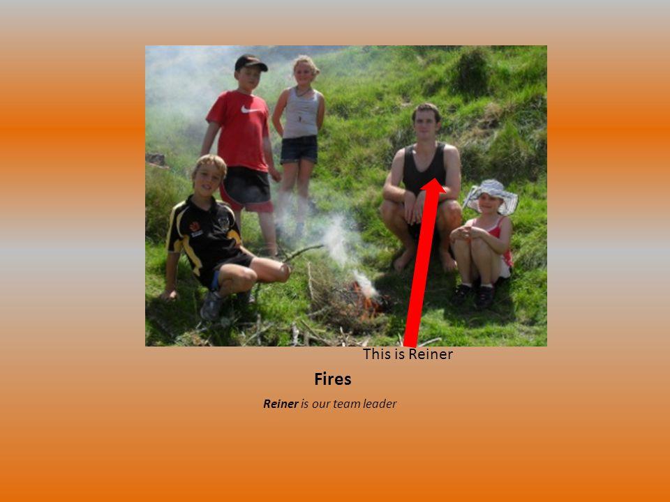 Fires Reiner is our team leader This is Reiner