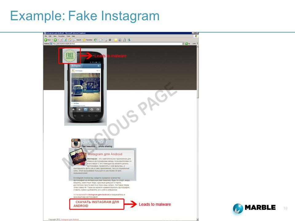 19 Example: Fake Instagram