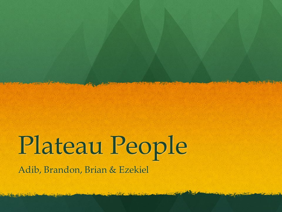 Plateau People Adib, Brandon, Brian & Ezekiel