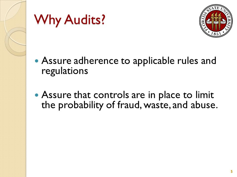 Why Audits.