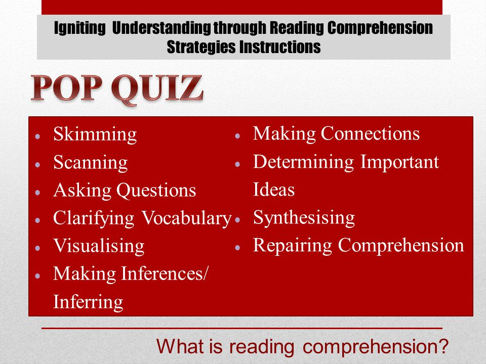 RESOURCES Strategies that Work: Teaching Comprehension for Understanding and Engagement – Harvey & Goudvis, 2007.