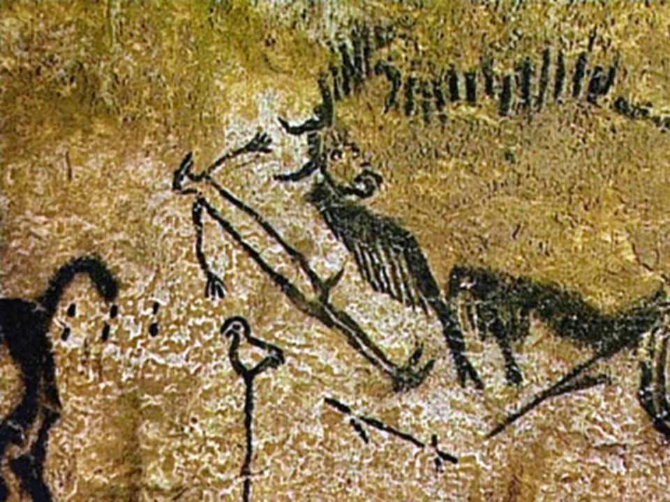 This painting was found inside the cave at Lascaux in France.