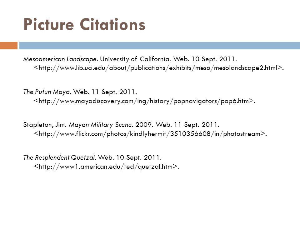 Picture Citations Mesoamerican Landscape. University of California. Web. 10 Sept. 2011.. The Putun Maya. Web. 11 Sept. 2011.. Stapleton, Jim. Mayan Mi