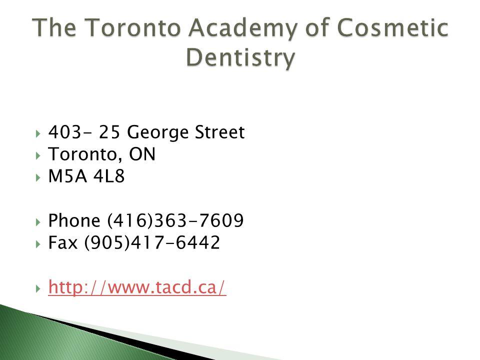  403- 25 George Street  Toronto, ON  M5A 4L8  Phone (416)363-7609  Fax (905)417-6442  http://www.tacd.ca/ http://www.tacd.ca/