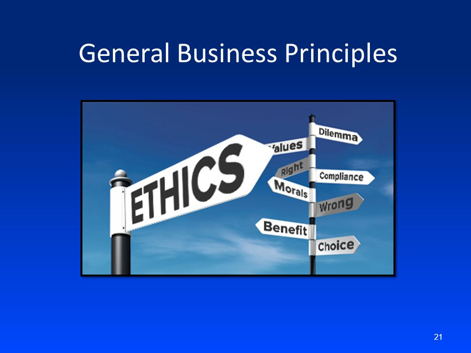 General Business Principles 21
