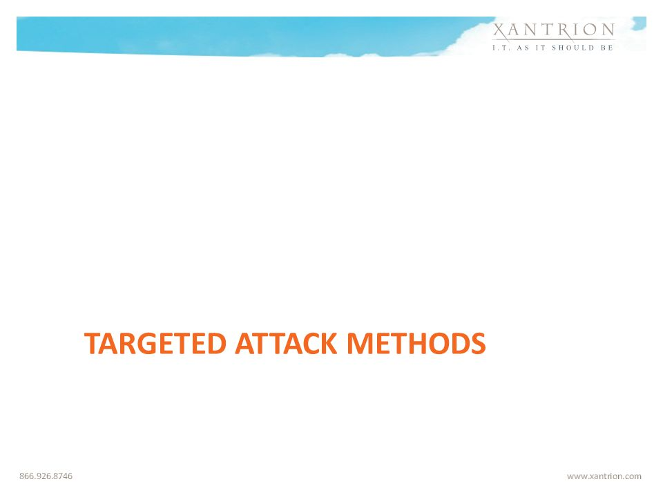 TARGETED ATTACK METHODS