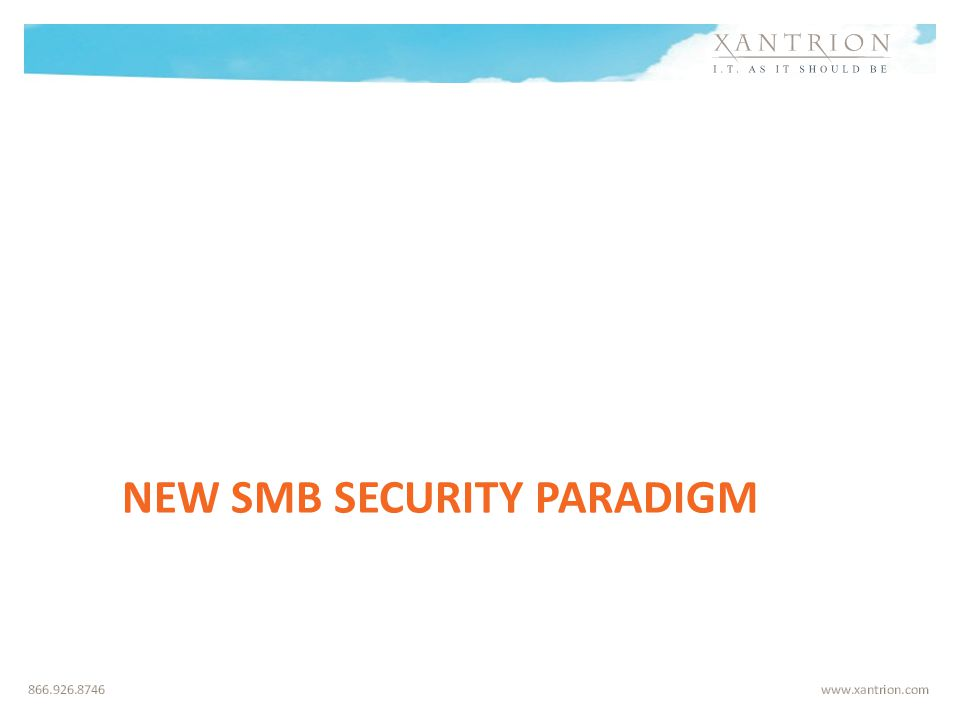 NEW SMB SECURITY PARADIGM