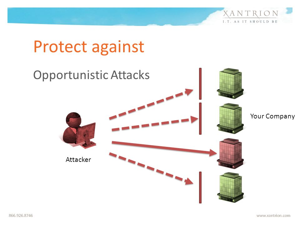 Protect against Opportunistic Attacks Attacker Your Company
