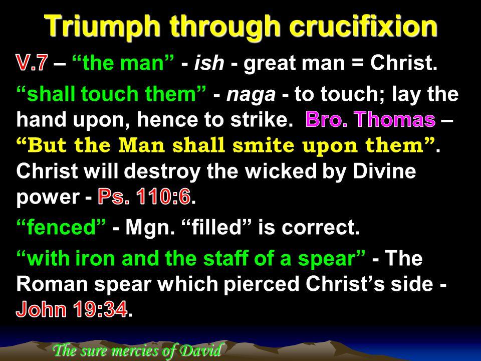 Triumph through crucifixion The sure mercies of David