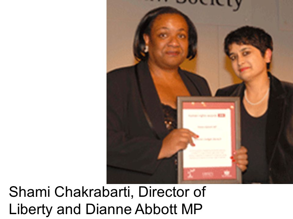 Shami Chakrabarti, Director of Liberty and Dianne Abbott MP